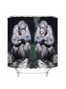 Couple Gorilla Laughing 3D Printed Bathroom Waterproof Shower Curtain