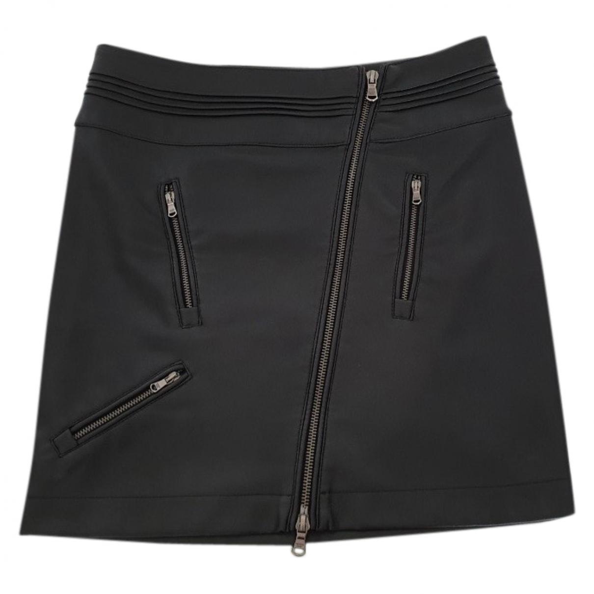 Patrizia Pepe \N Black Leather skirt for Women 40 IT