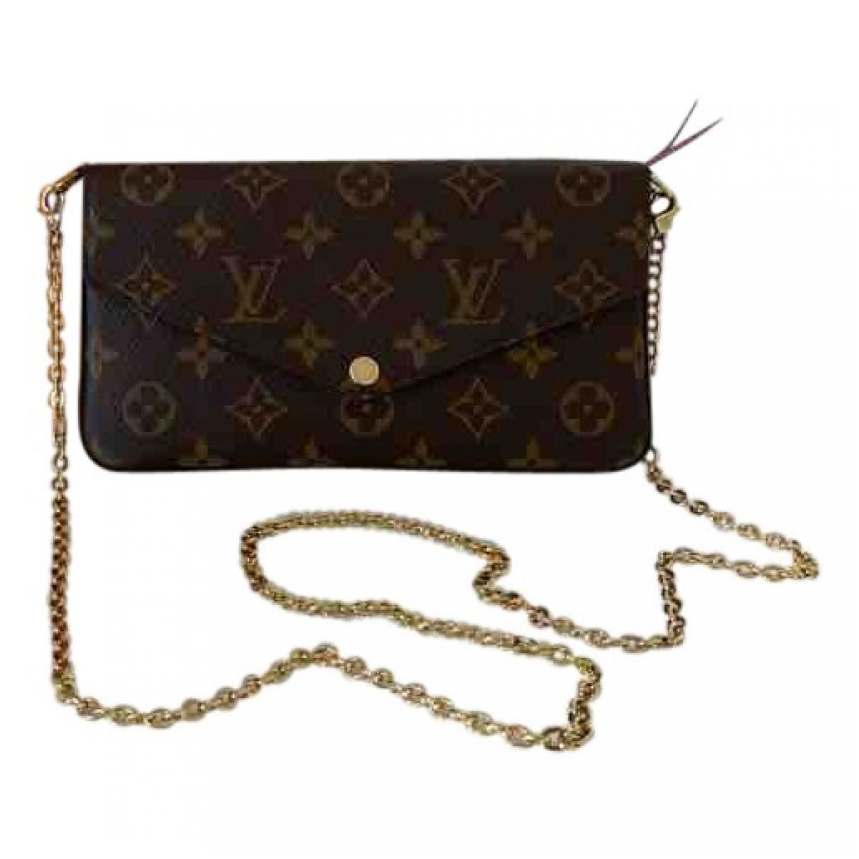 Louis Vuitton Félicie Brown Cloth Clutch bag for Women \N