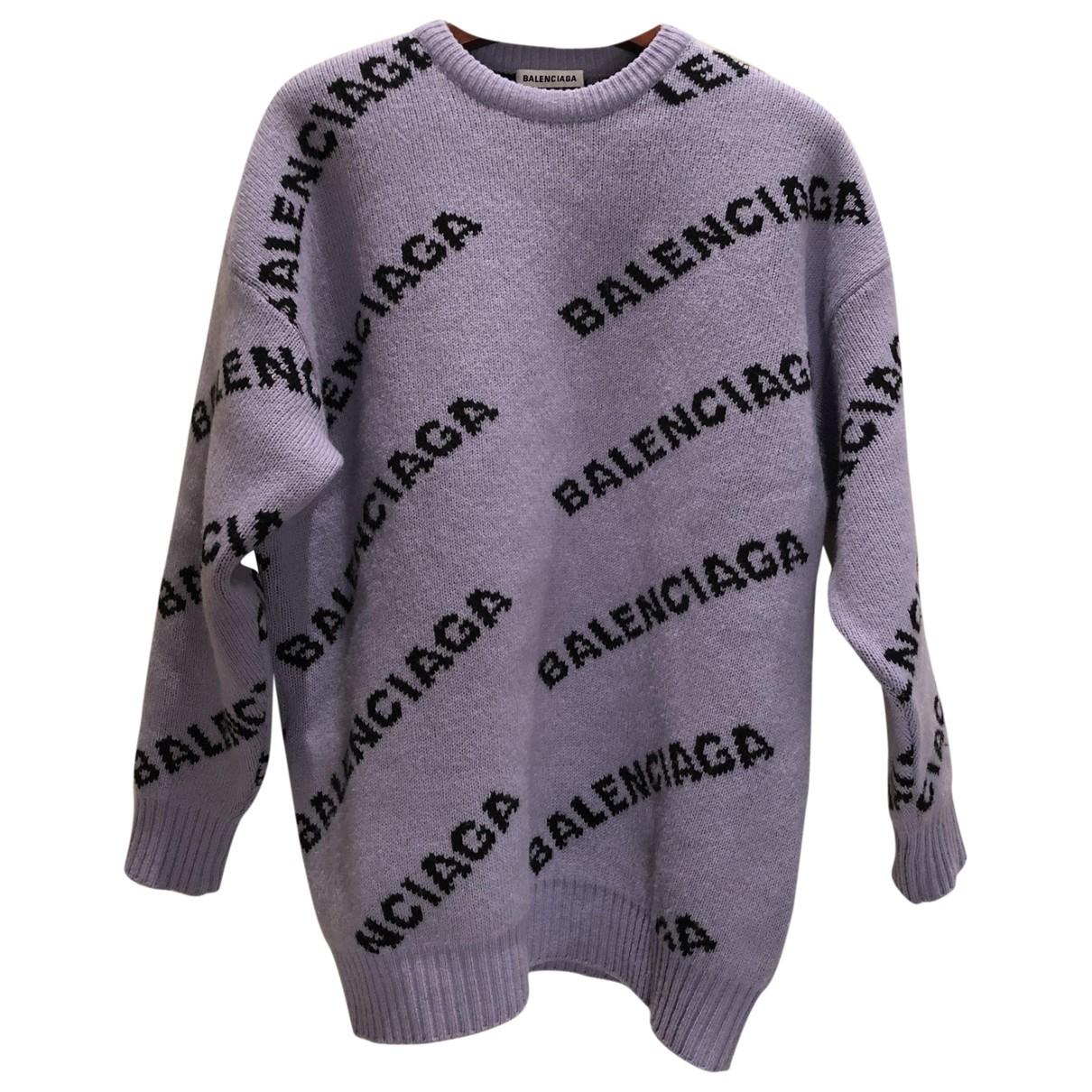 Balenciaga - Pull   pour femme en laine - violet