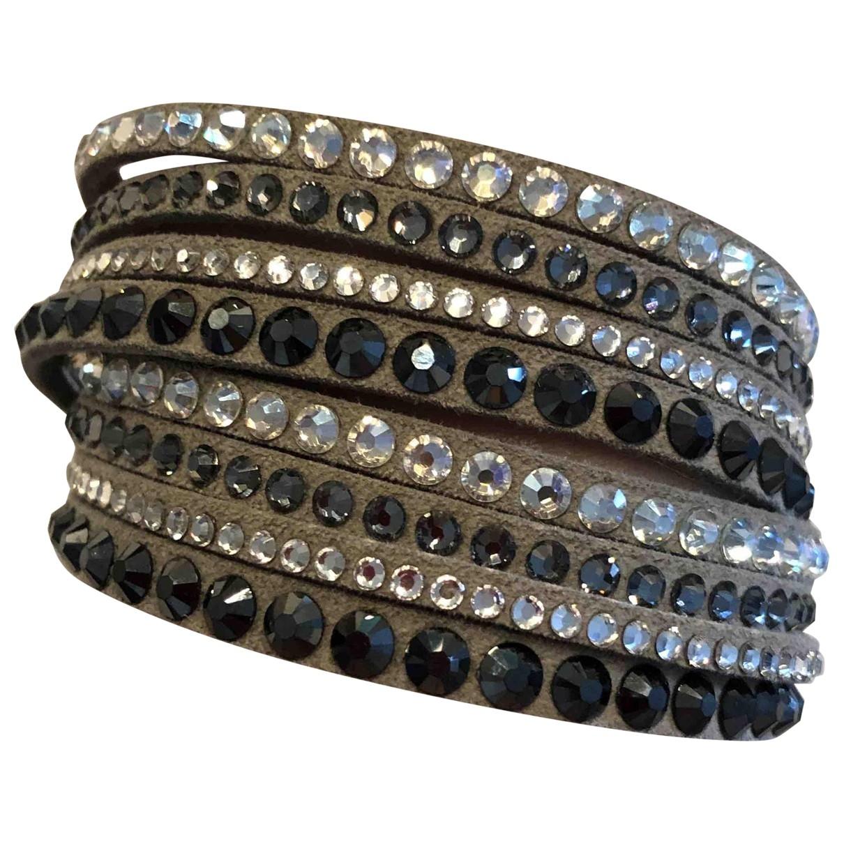 Swarovski \N Grey Leather bracelet for Women \N