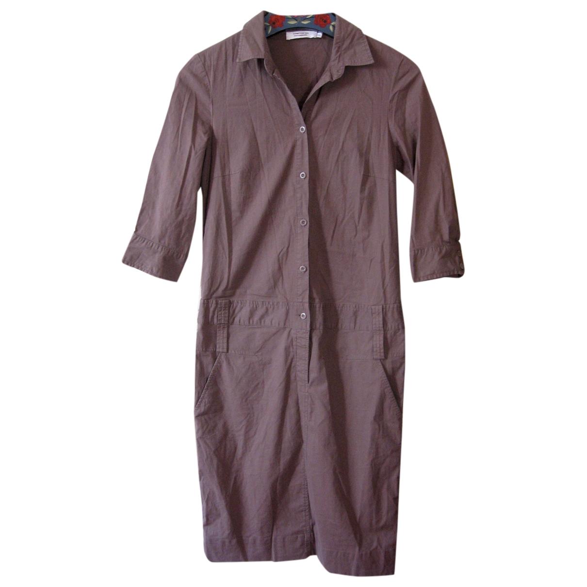 Comptoir Des Cotonniers \N Kleid in  Khaki Baumwolle