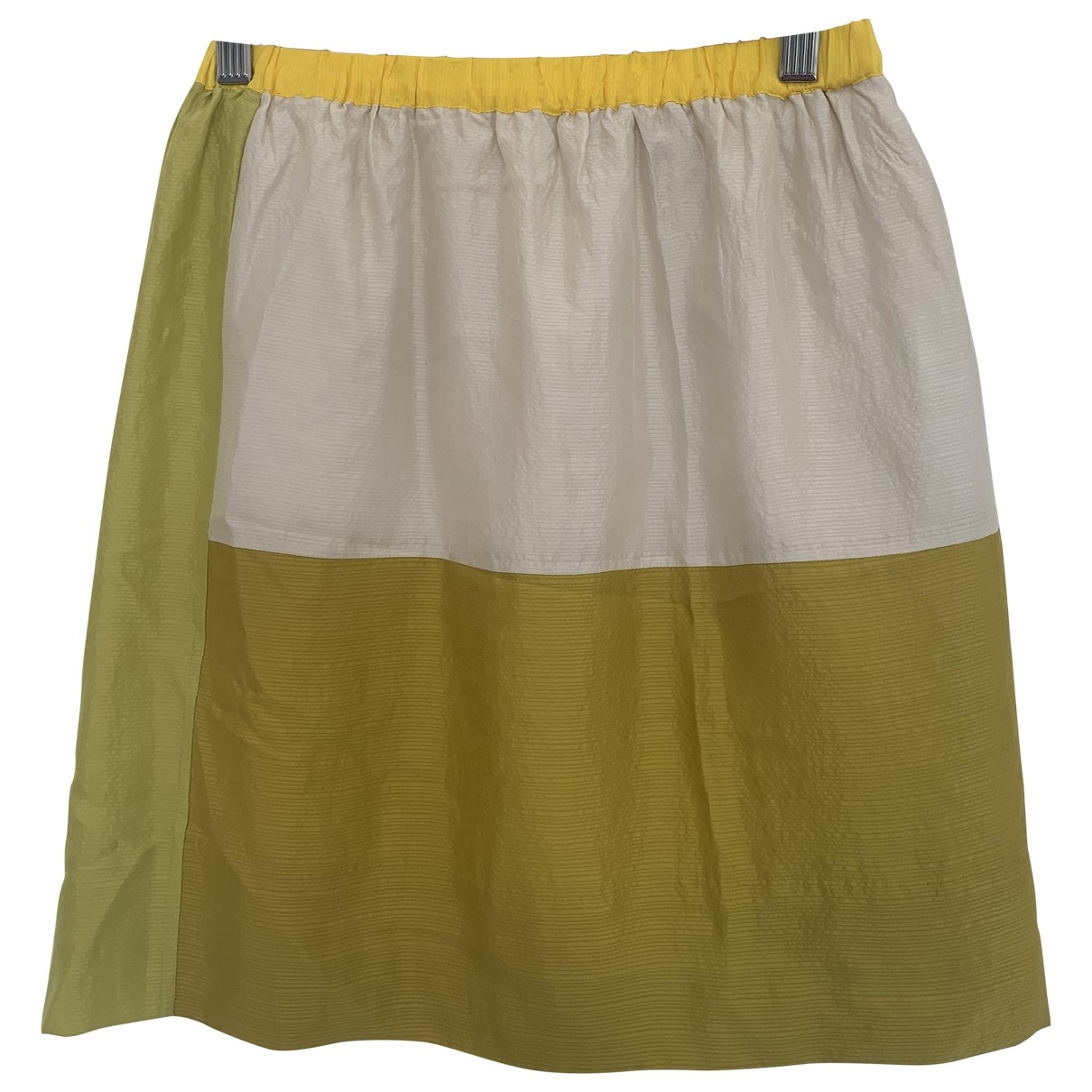 Falda midi de Seda Cos