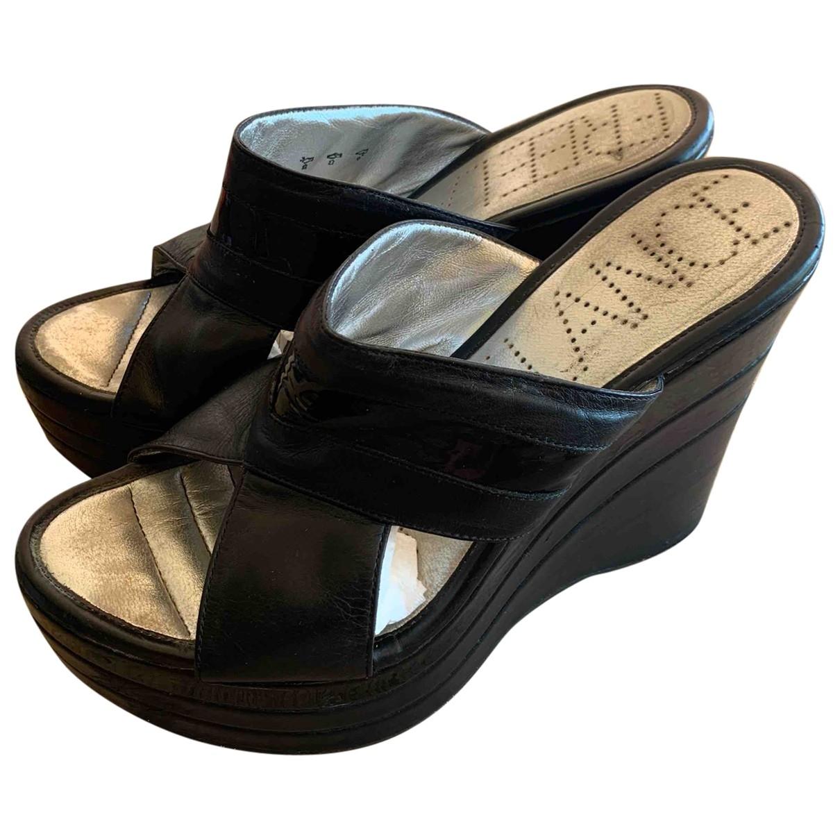 Free Lance \N Black Leather Sandals for Women 39 EU