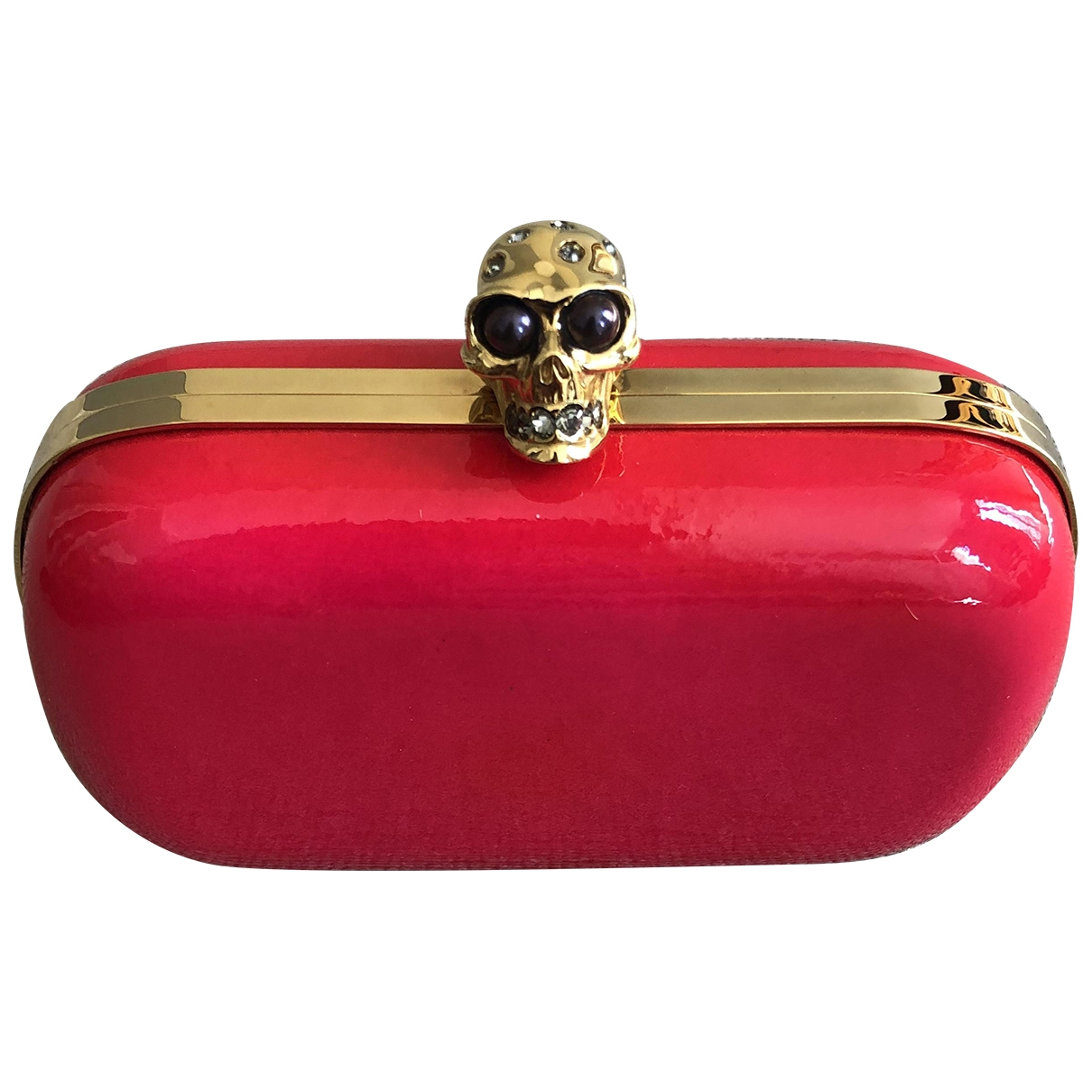 Alexander Mcqueen Skull Pink Patent leather Clutch bag for Women \N