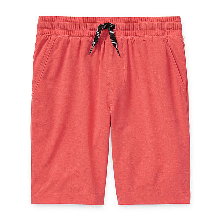 Arizona Little & Big Boys Adjustable Waist Hybrid Short, Xx-small (4-5) , Red