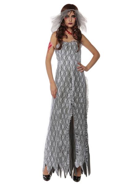 Milanoo El disfraz de novia fantasma vestido de mujer disfraz de Halloween