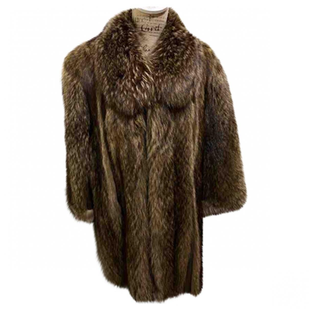 - Manteau   pour femme en fourrure - marron