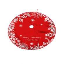 Falda de arbol de navidad con estampado copo de nieve