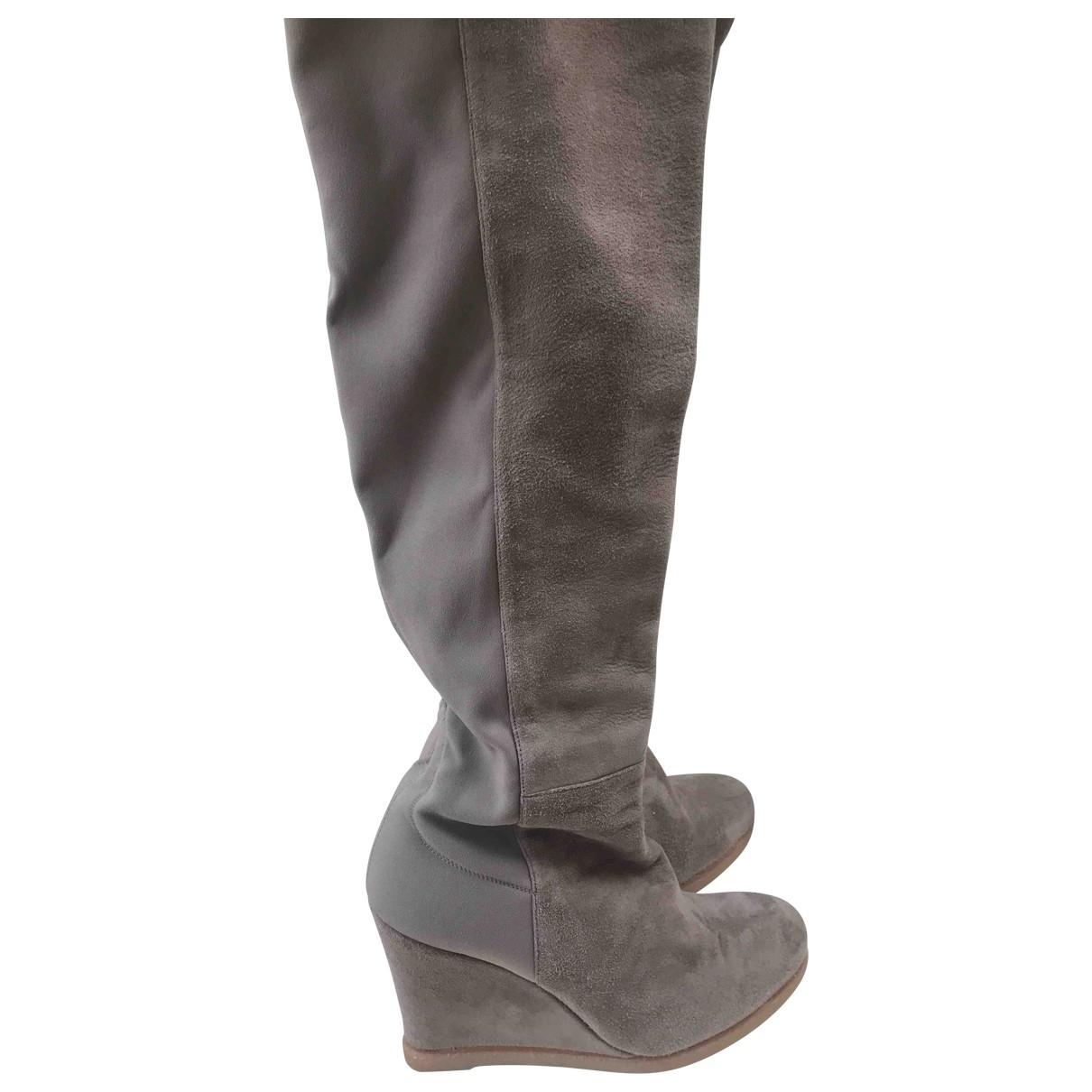 Stuart Weitzman N Beige Leather Boots for Women 41 EU