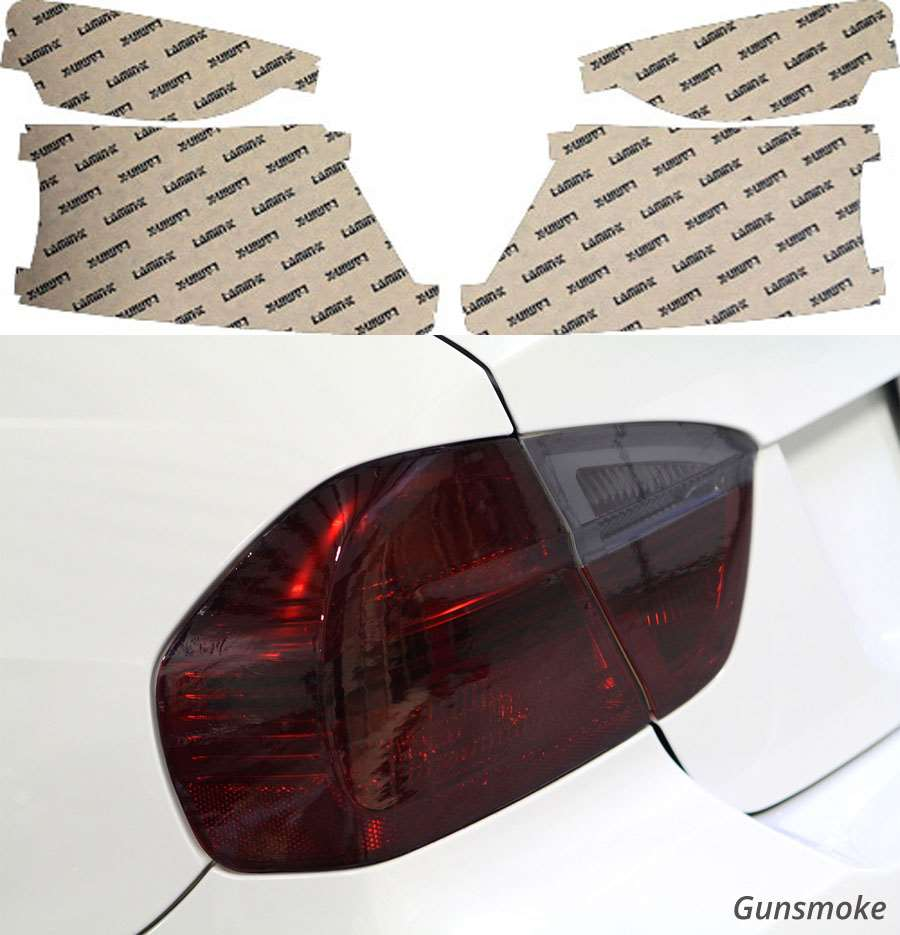Toyota Yaris Hatchback 07-11 Gunsmoke Tail Light Covers Lamin-X T220G