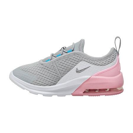 Nike Air Max Motion 2 Little Kids Girls Running Shoes, 13 Medium, Gray