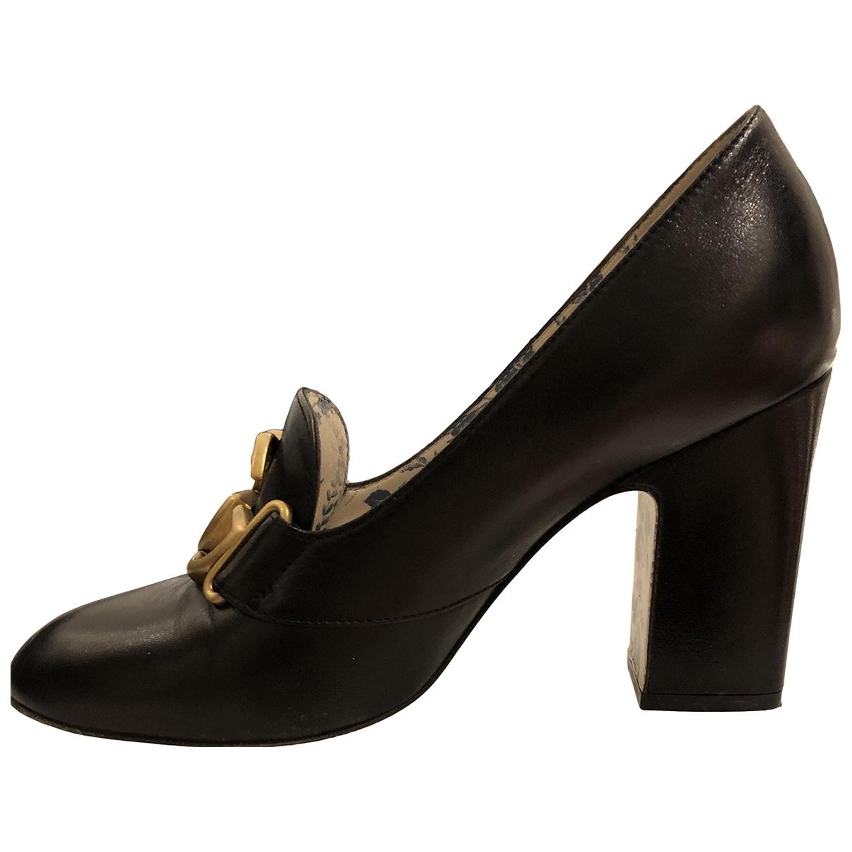 Gucci \N Black Leather Heels for Women 36 EU