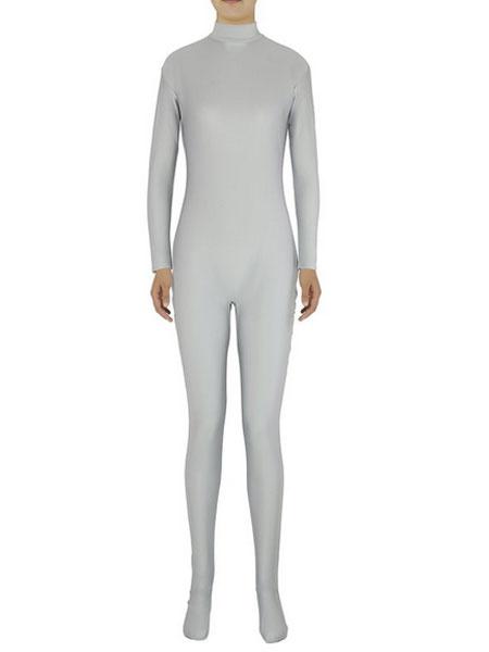 Milanoo Disfraz Halloween Luz gris Zentai Slim Fit mono Spandex para mujeres Halloween