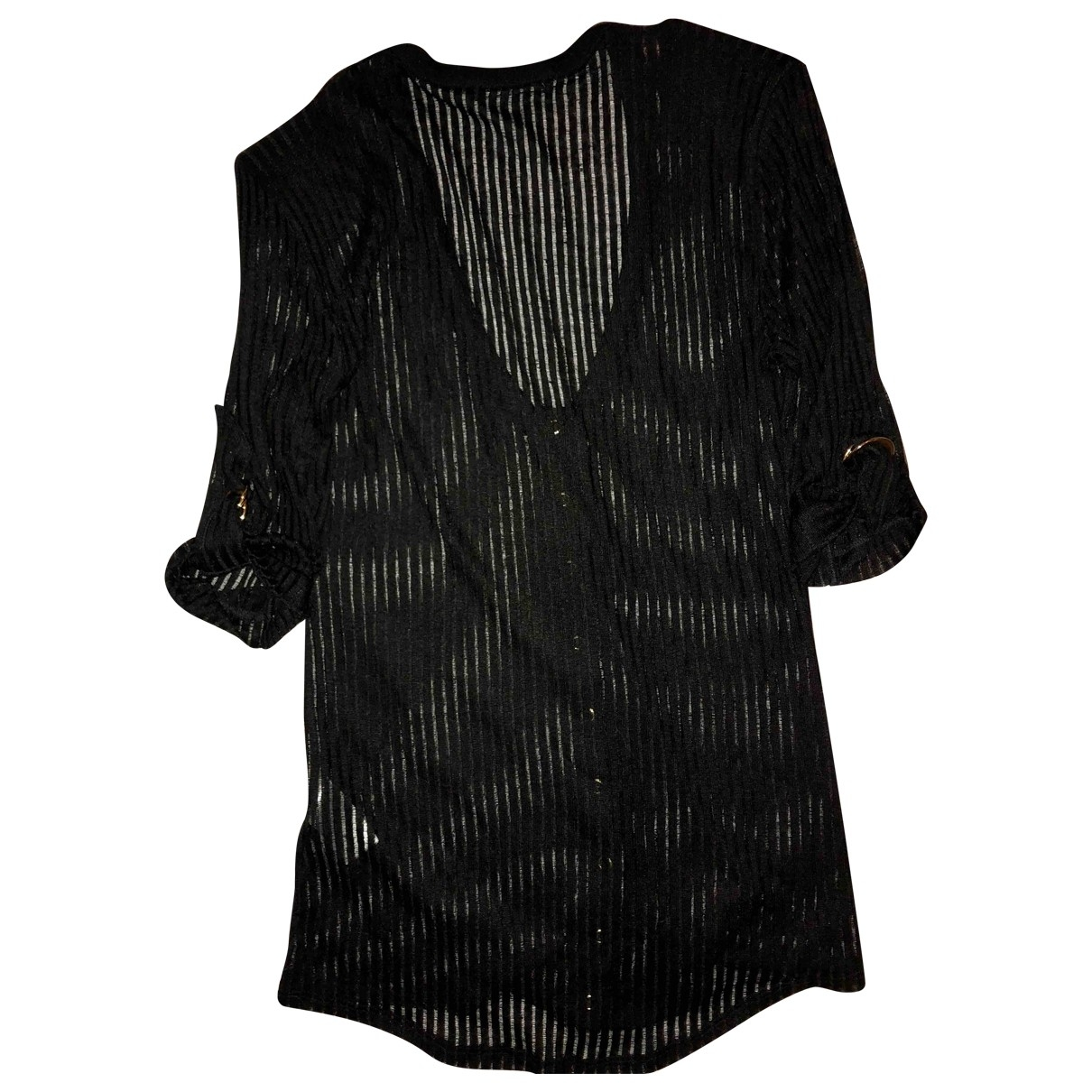 Balmain \N Black Linen Knitwear for Women 42 FR