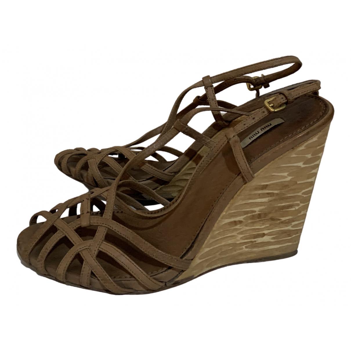 Sandalias de Cuero Miu Miu