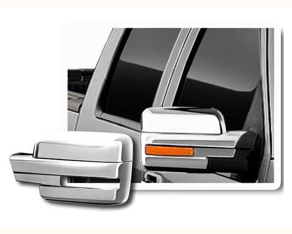 Quality Automotive Accessories Chrome Plated ABS Plastic 2-Piece Mirror Cover Set Ford F-150 2012
