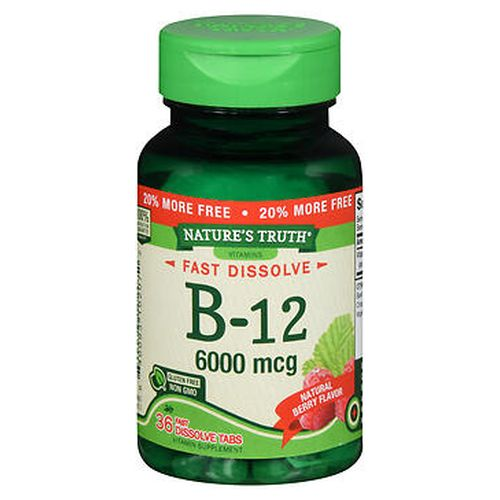 Natures Truth Sublingual B12 Fast Dissolve Tabs Natural Berry Flavor 36 Tabs by Natures Truth
