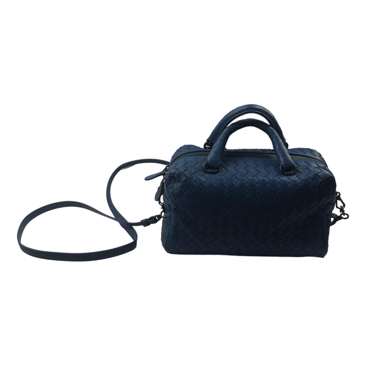 Bottega Veneta - Sac a main City Veneta pour femme en cuir - bleu