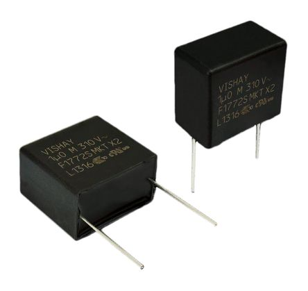 Vishay 150nF Polyester Capacitor PET 310V ac ±10% (5)