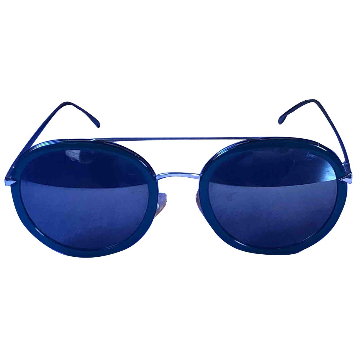 Fendi \N Green Metal Sunglasses for Women \N
