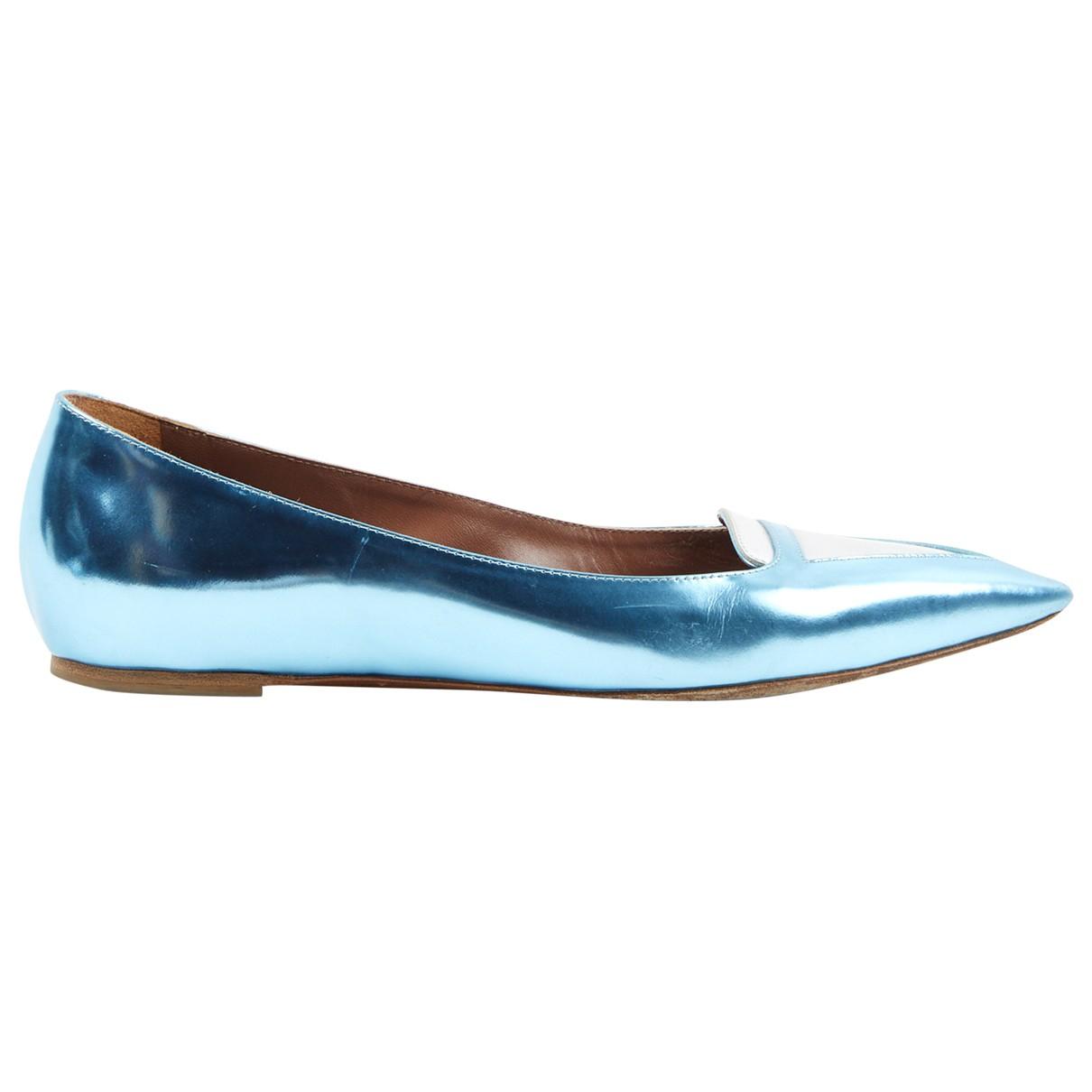 Tabitha Simmons \N Blue Leather Ballet flats for Women 39 EU