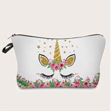 Unicorn Print Makeup Bag
