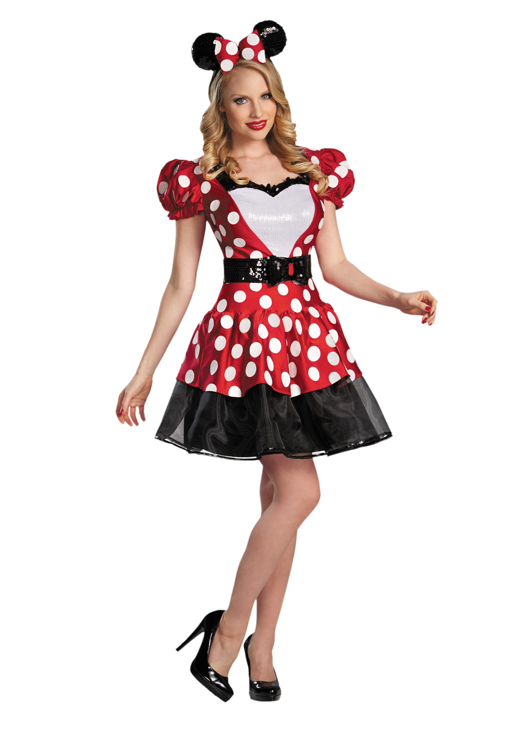 Red Glam Minnie Mouse Costume | Minnie Mouse Adult Costume
