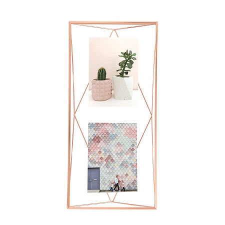 Umbra Prisma Photo Display 3 Openings Copper 3-Opening Tabletop Frame, One Size , Yellow