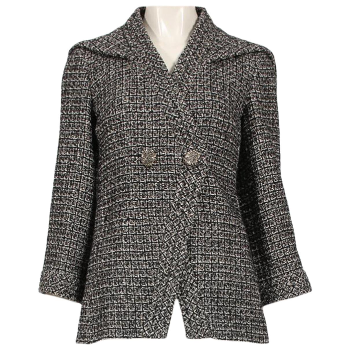 Chanel - Veste   pour femme en tweed - gris