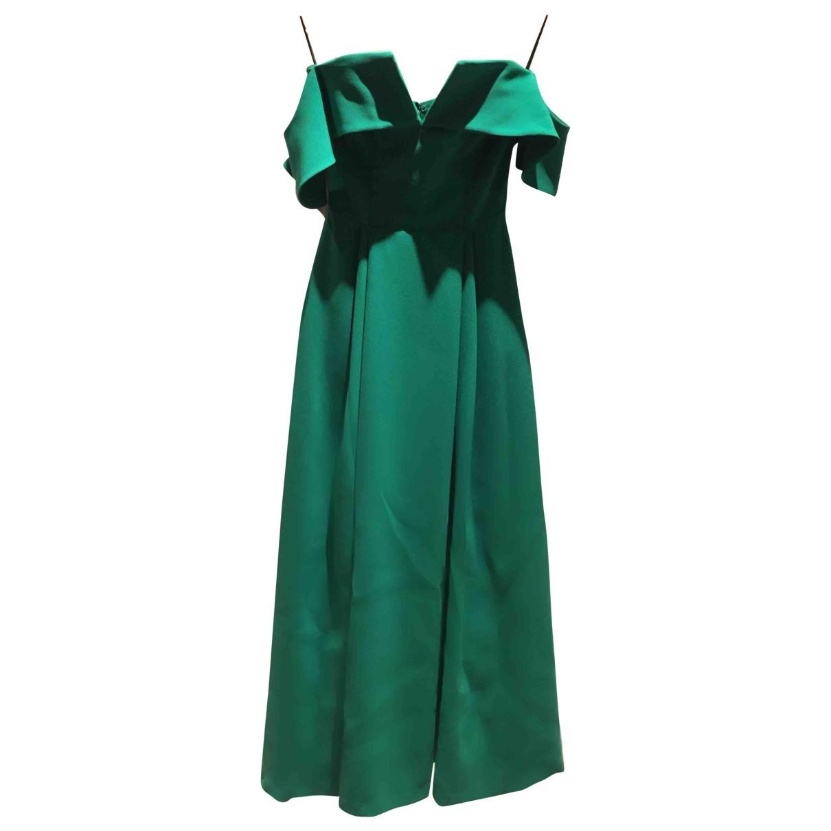 Pedro Del Hierro \N Kleid in  Gruen Seide
