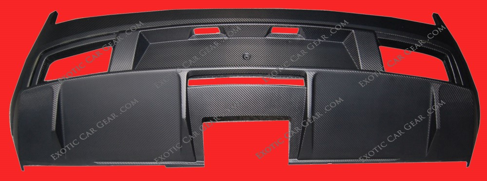 Exotic Car Gear ECG-LAM-GARBD Carbon Fiber Rear Bumper Diffuser Lamborghini Gallardo
