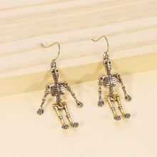 Metal Skeleton Drop Earrings