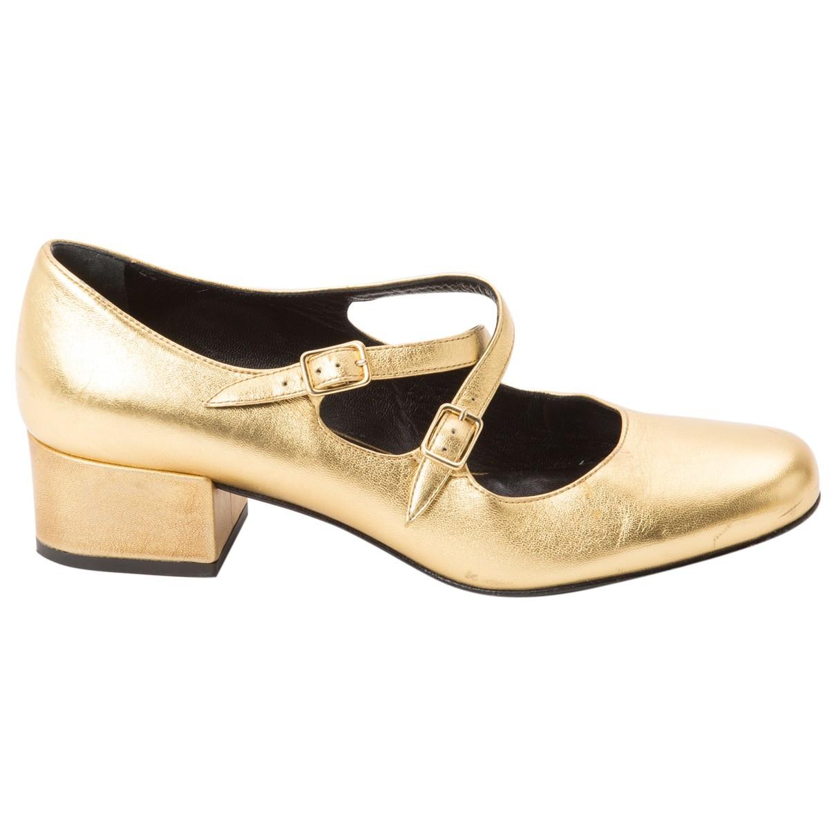 Saint Laurent \N Pumps in  Gold Leder