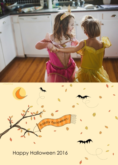 Halloween Photo Cards 5x7 Folded Cards, Standard Cardstock 85lb, Card & Stationery -happy halloween!