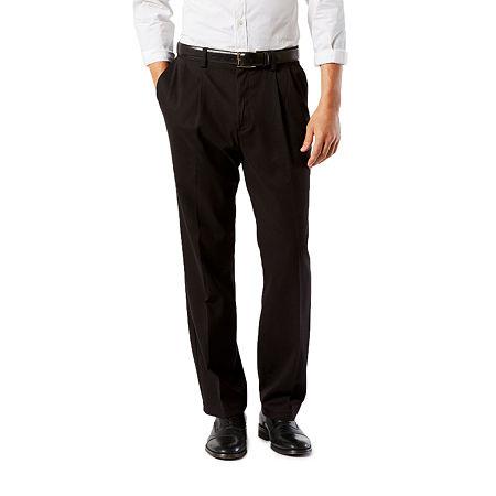 Dockers Big & Tall Classic Fit Easy Khaki Pants - Pleated D3, 48 30, Black
