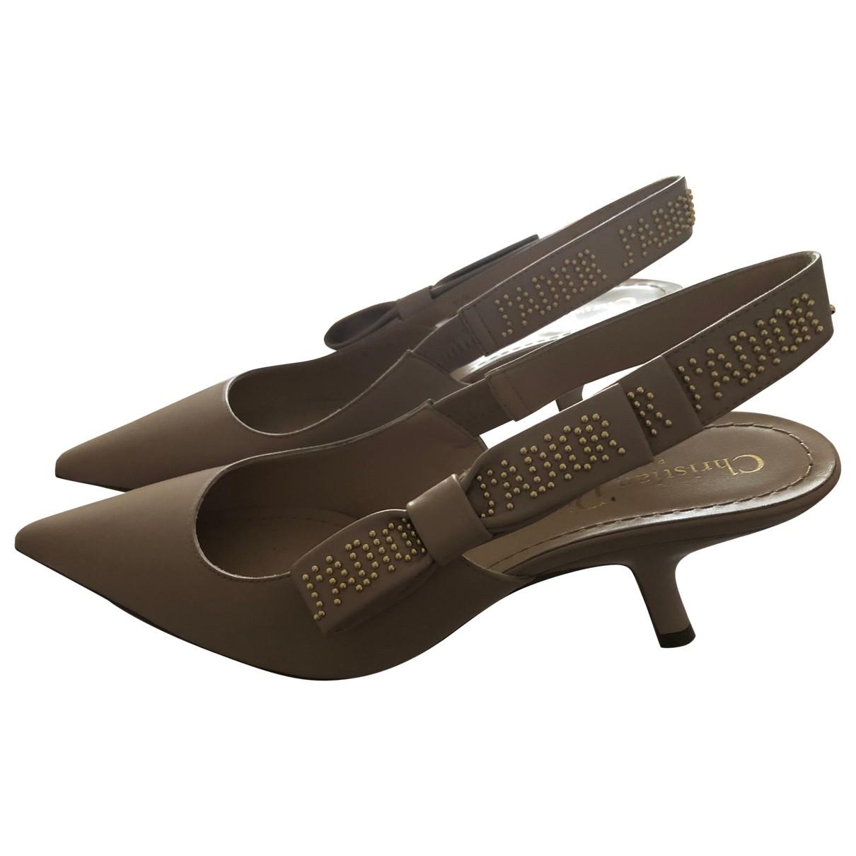 Dior J'adior Beige Leather Heels for Women 36.5 EU