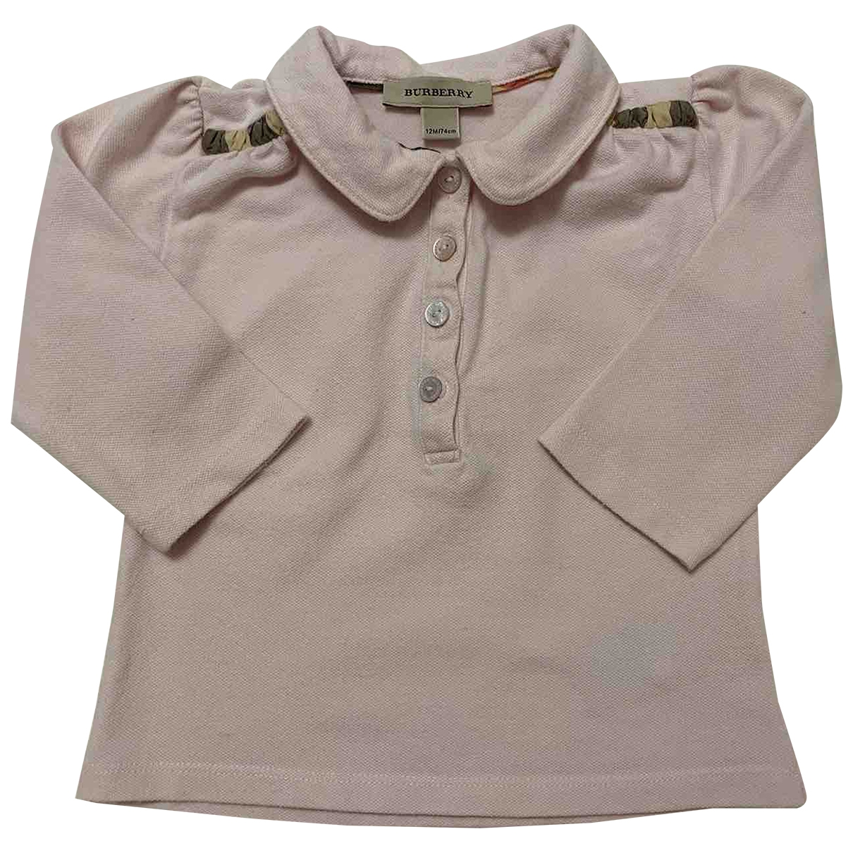 Burberry \N Pink Cotton  top for Kids 12 months - until 29 inches UK