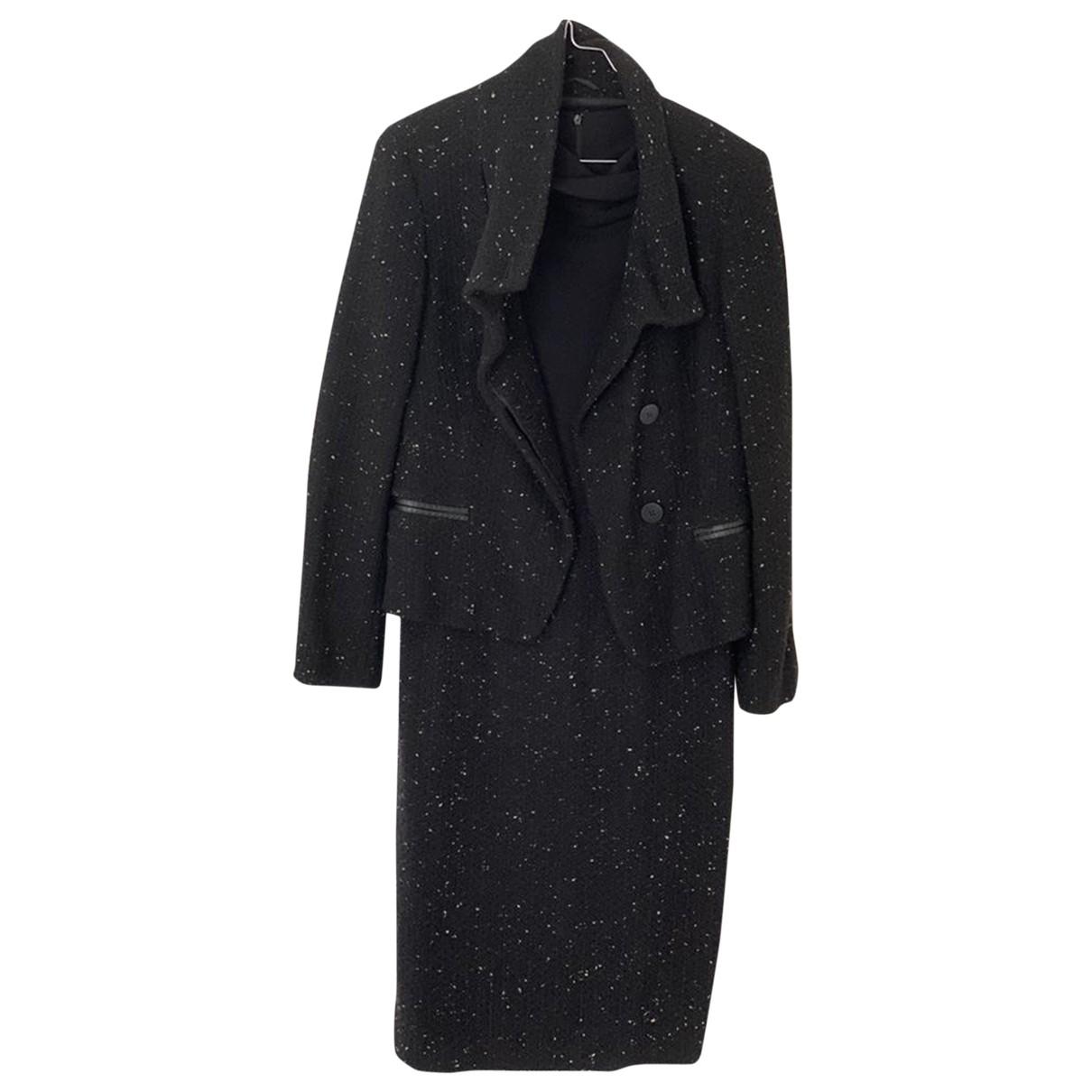 Max Mara \N Kleid in  Schwarz Wolle
