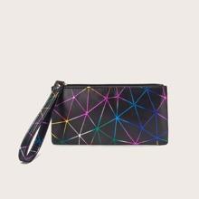Geometric Graphic Wristlet Bag