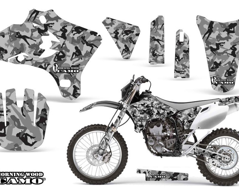 AMR Racing Dirt Bike Graphics Kit Decal Wrap For Yamaha WR250 WR450F 2005-2006áURBAN CAMO BLACK