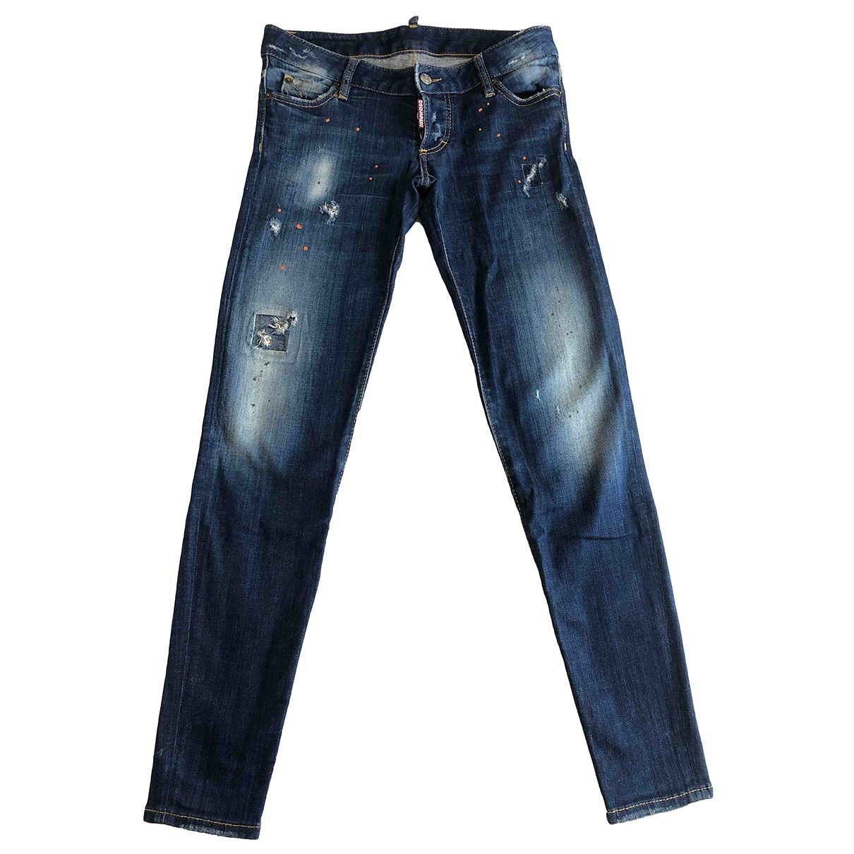 Dsquared2 \N Blue Cotton - elasthane Jeans for Women 42 FR