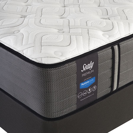 Sealy Pershing Cushion Firm - Mattress + Box Spring, One Size , White