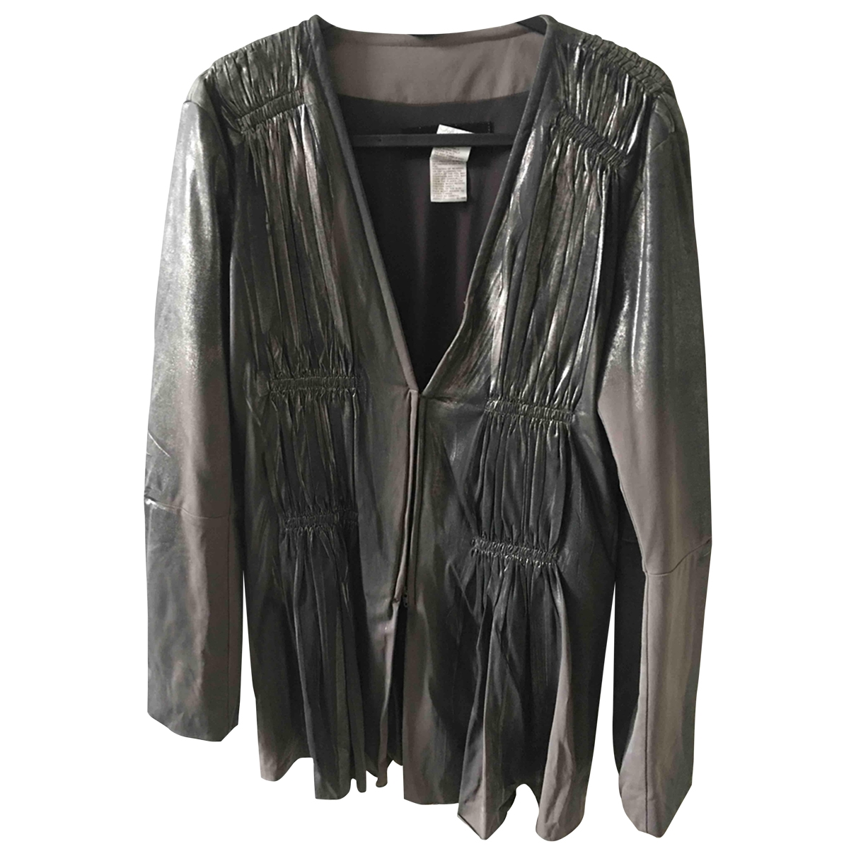 Issey Miyake \N Metallic Silk jacket for Women 2 0-5