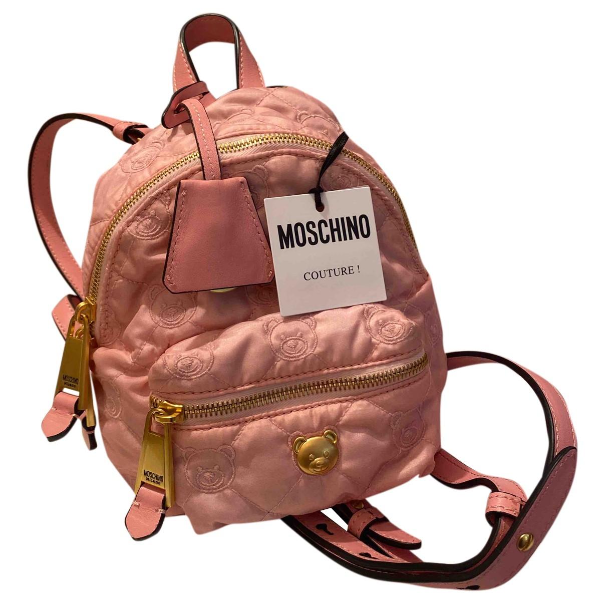 Moschino - Sac a dos Biker pour femme - rose