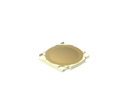 Alps Alpine Black Button Tactile Switch, Single Pole Single Throw (SPST) 50 mA Surface Mount (10)