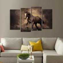 Wandkunst - Pferd - 4 Stueck