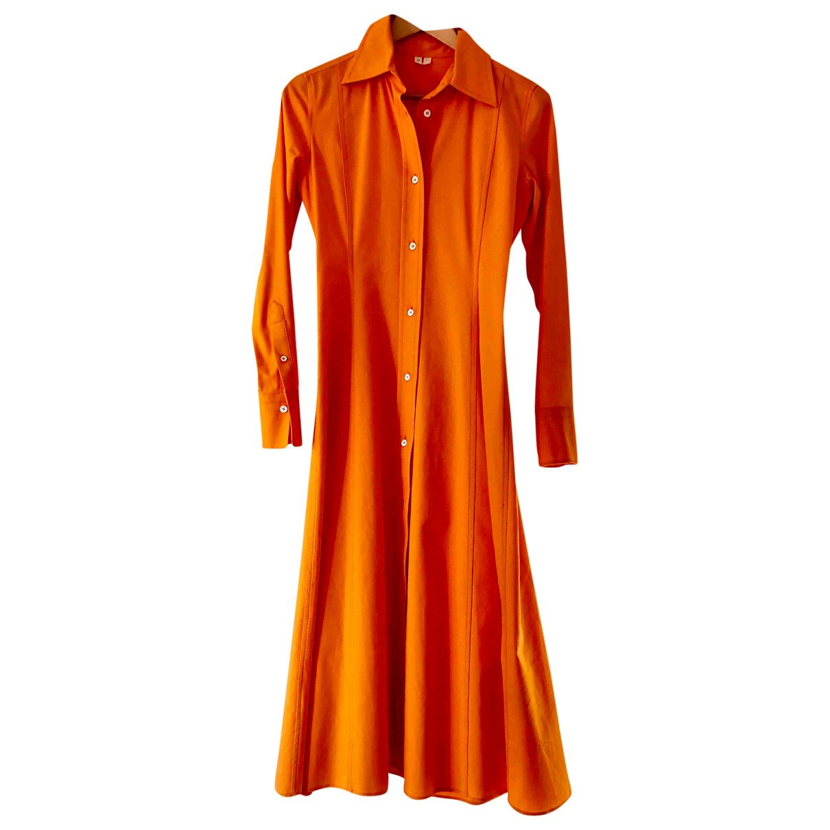 Arket \N Kleid in  Orange Baumwolle - Elasthan