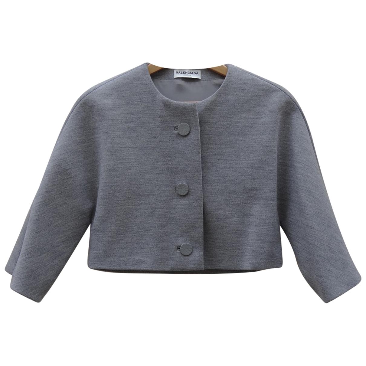 Balenciaga \N Grey Wool jacket for Women 34 FR