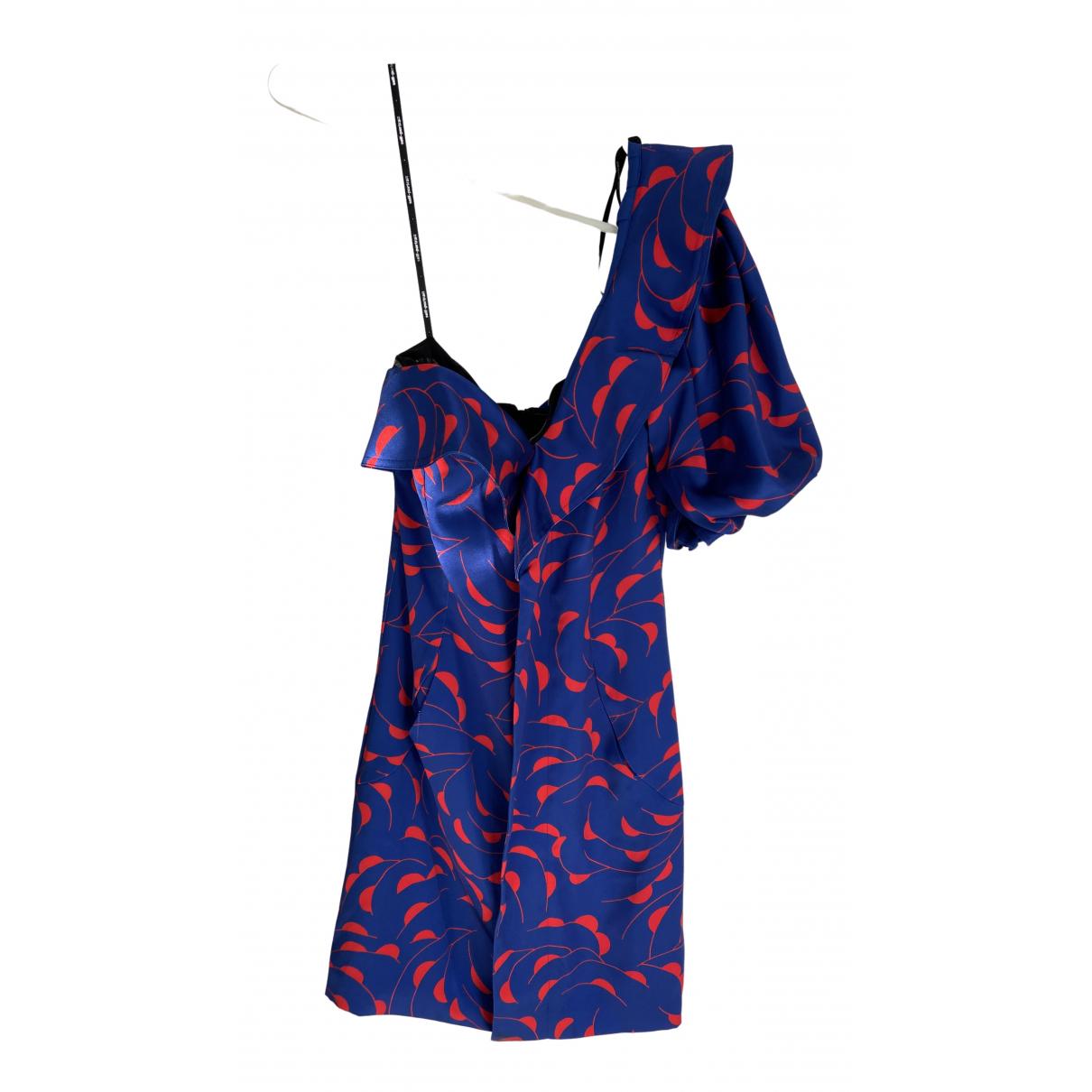 Self Portrait \N Kleid in  Blau Polyester